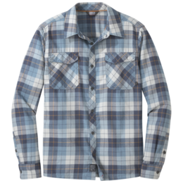 OR Men's Tangent II L/S Shirt naval blue plaid