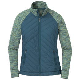 OR Women's Melody Hybrid Full Zip washed peacock multi