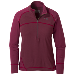 OR Women's Alpine Onset Zip Top zin/garnet