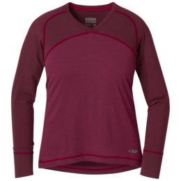 OR Women's Alpine Start V-Neck garnet/zin