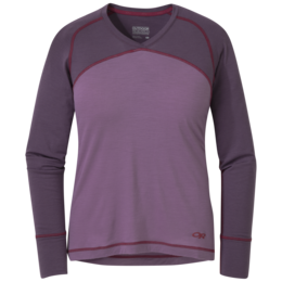 OR Women's Alpine Start V-Neck amethyst/pacific plum