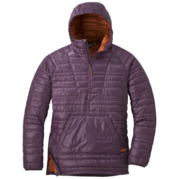 OR Women's Down Baja Pullover pacific plum/burnt orange