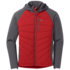 OR Men's Refuge Hybrid Hooded Jacket tomato/storm