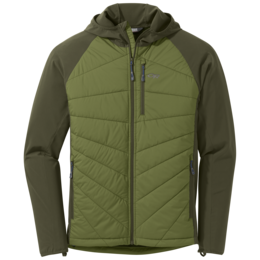 OR Men's Refuge Hybrid Hooded Jacket seaweed/juniper