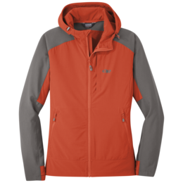OR Women's Ferrosi Hooded Jacket paprika/pewter