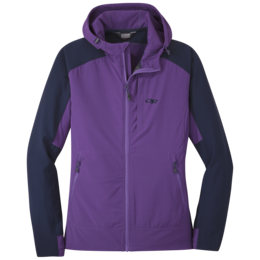 OR Women's Ferrosi Hooded Jacket purple haze/naval blue