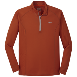 OR Men's Echo Quarter Zip burnt orange