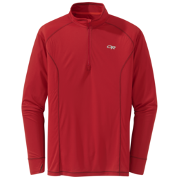 OR Men's Echo Quarter Zip tomato