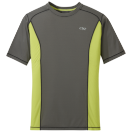 OR Men's Echo S/S Tee pewter/chartreuse