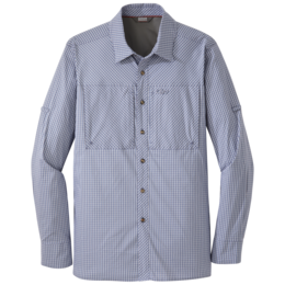 OR Men's Baja Sun L/S Shirt steel blue check