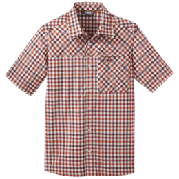 OR Men's Discovery S/S Shirt burnt orange plaid