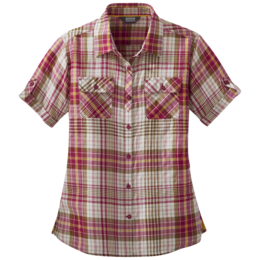 OR Women's Melio S/S Shirt sangria large plaid
