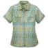 OR Women's Melio S/S Shirt seaglass large plaid
