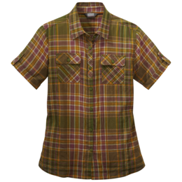 OR Women's Melio S/S Shirt seaweed large plaid