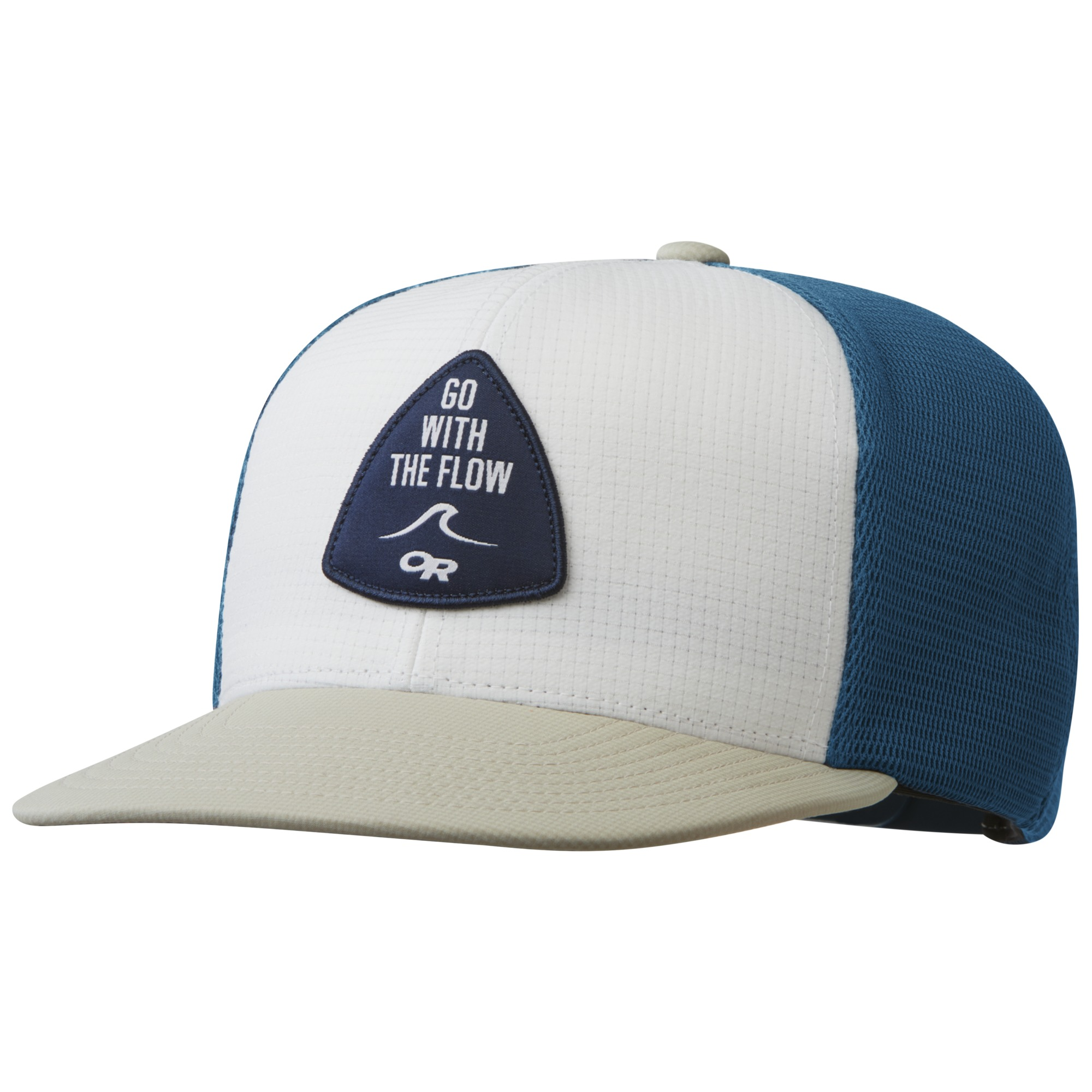 515123daa29bb Performance Trucker - Go with the Flow - white hazelwood peacock ...