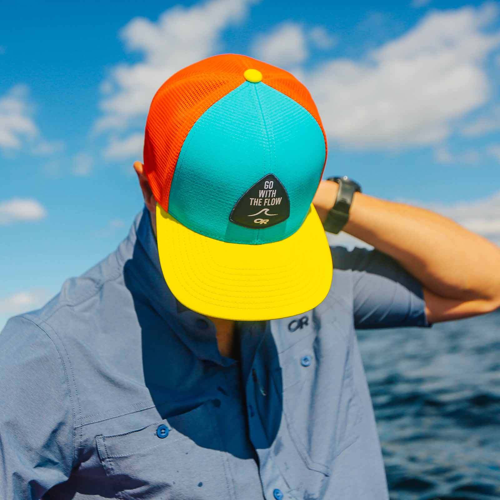 OR Performance Trucker -Go with the Flow seaglass/lemonpeel/bahama
