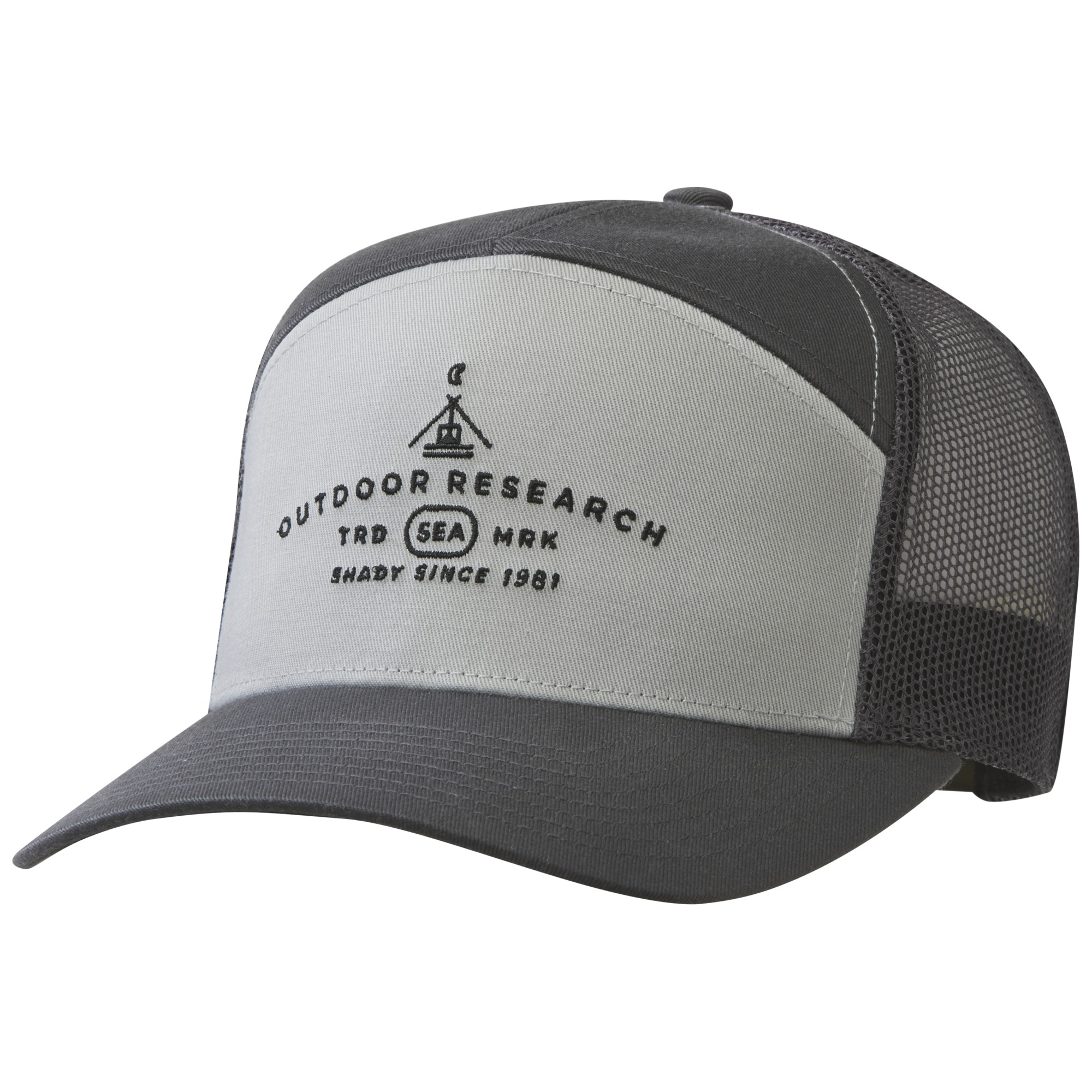 6a04392a Shady 7 Panel Trucker Hat - storm/alloy | Outdoor Research