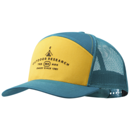 OR Shady 7 Panel Trucker Hat washed peacock/solaria