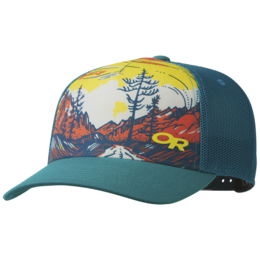 OR Alpenglimmer Trucker Hat peacock