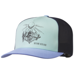 OR Moonshine Trucker Hat hydrangea/seaglass