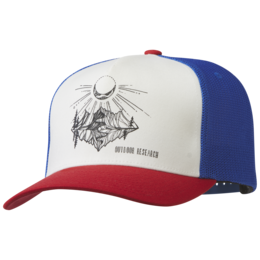 OR Moonshine Trucker Hat white/tomato/cobalt