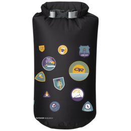 OR Graphic Dry Sack 20L Merit Badges black