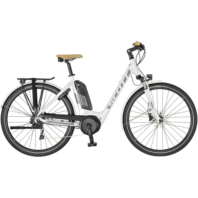 SCOTT Sub Tour eRide 10 Unisex Bike white