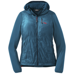 OR Women's Vigor Hybrid Hooded Jacket celestial blue