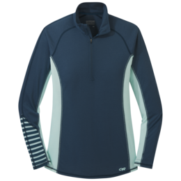OR Women's Enigma Half Zip prussian blue/waterfall