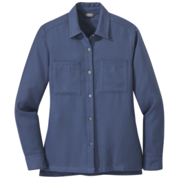 OR Women's Feedback Flannel Shirt steel blue