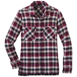 OR Women's Feedback Flannel Shirt beet plaid