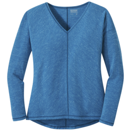 OR Women's Westport L/S Top celestial blue heather