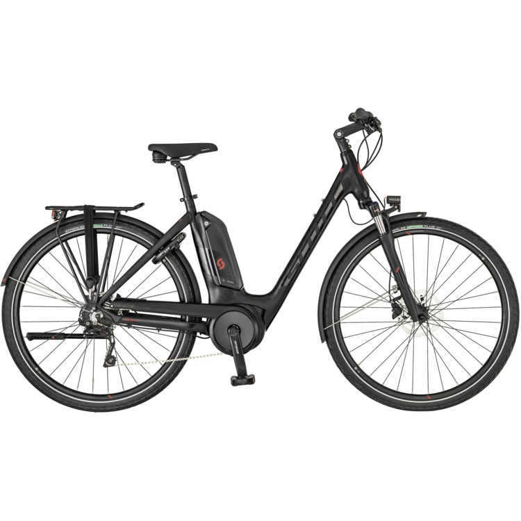 SCOTT Sub Tour eRide 10 Unisex-Bike in Schwarz