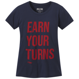 OR Women's Earn Your Turns S/S Tee ink