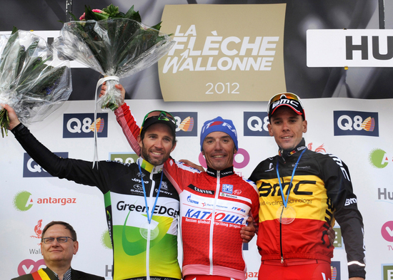 Michael Albasini finishes 2nd at Flèche Wallone 2012
