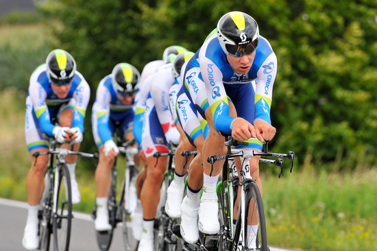 ORICA-GreenEDGE won the Eneco Tour stage two team time trial