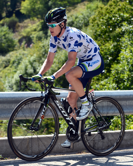 Simon Clarke wins the Polka dot jersey