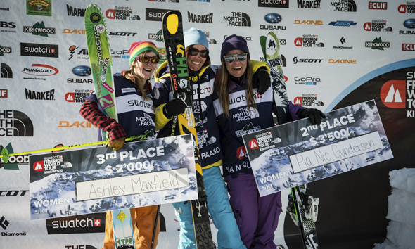 Jackie on the podium in Kirkwood FWT 13