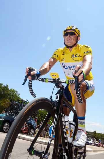 Simon Gerrans in Yellow. Photo Credits : TDWsport.com