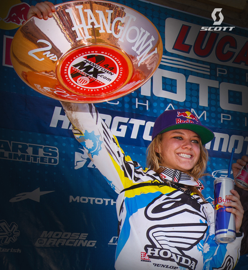 Ashley Fiolek at Hangtown