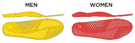 The racing insoles are designed to be lightweight and breathable.