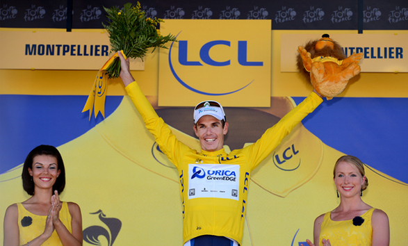Impey Becomes First African to Wear the Yellow Jersey