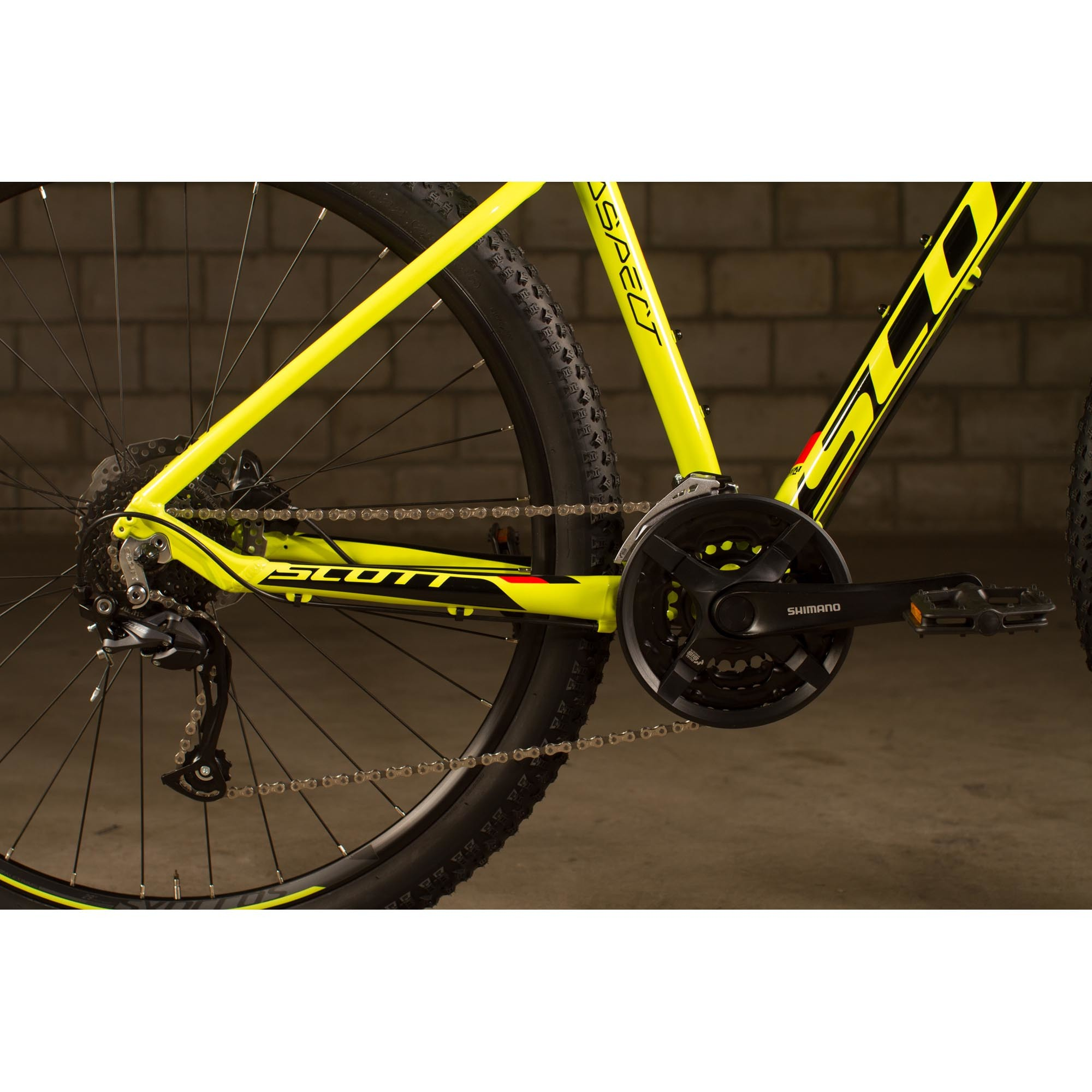SCOTT Aspect 750 yellow/red Bike
