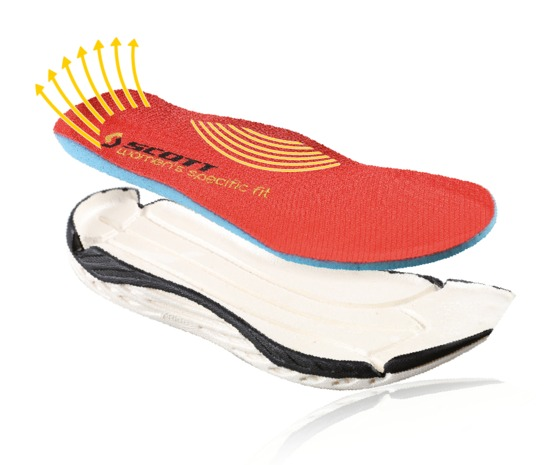 The SCOTT Running SHOE INSOLE SYSTEM offers two different insoles for men and women to ensure a better fit.