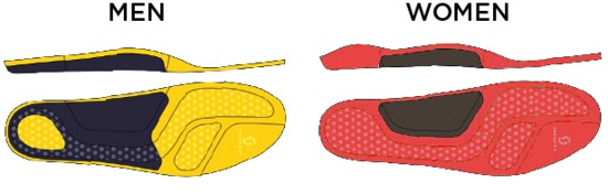 The training insoles are deisgned for cushioning, support and comfort.