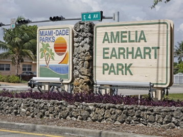 Entrance picture of the Amelia Earhart Park
